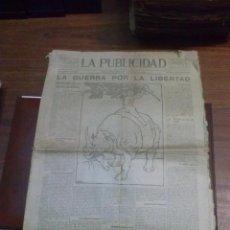 Coleccionismo de Revistas y Periódicos: PERIODICO LA PUBLICIDAD 30 DE NOVIEMBRE DE 1918 SUPLEMENTO ESPECIAL. Lote 41611350