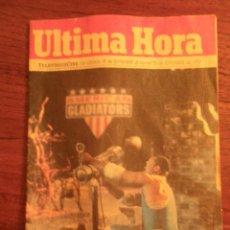 Coleccionismo de Revistas y Periódicos: REVISTA TELEVISON CINE DE ULTIMA HORA, SEPTIEMBRE 1992.. Lote 41675671