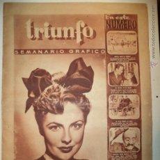 Coleccionismo de Revistas y Periódicos: REVISTA TRIUNFO AÑO I Nº 28 10-8-1946. Lote 41696956