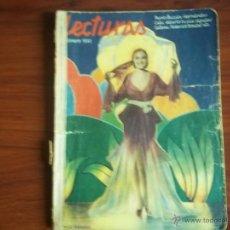 Coleccionismo de Revistas y Periódicos: REVISTA LECTURAS - AÑO XII NUM. 129 - FEBRERO DE 1932. Lote 41740691
