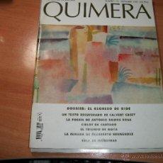 Coleccionismo de Revistas y Periódicos: QUIMERA. REVISTA DE LITERATURA. Lote 41742939