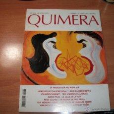 Coleccionismo de Revistas y Periódicos: QUIMERA. REVISTA DE LITERATURA. Lote 41742959