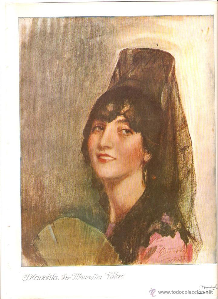 AÑO 1923 RECORTE PRENSA PINTURA LAMINA PICTORICA MAROUSSIA VALERO MANOLITA (Coleccionismo - Revistas y Periódicos Modernos (a partir de 1.940) - Otros)