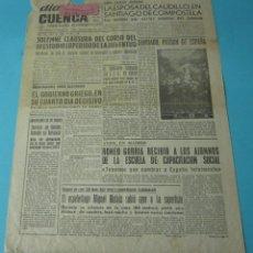 Coleccionismo de Revistas y Periódicos: PÁGINAS 1 Y 2 DEL DIARIO DE CUENCA. DOMINGO 25 JULIO 1965. ESPELEÓLOGO MIGUEL MATAIX. Lote 41764889