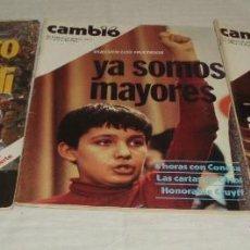 Coleccionismo de Revistas y Periódicos: CUATRO REVISTAS CAMBIO16 DEL AÑO 1977 (EL PARTO DE LAS CORTES-EL GRITO DE EUSKADI-GRAPO Y CIA. Lote 41855680
