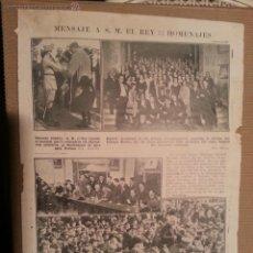 Coleccionismo de Revistas y Periódicos: MENSAJE DEL REY , BONANZA CADIZ, MADRID, BARCELONA HOMENAJE A SANTIAGO RUSIÑOL ..... Lote 41903980