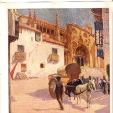 Coleccionismo de Revistas y Periódicos: AÑO 1922 RECORTE PRENSA PINTURA LAMINA PICTORICA HUIDOBRO ARANDA DE DUERO PLAZA DE SANTA MARIA. Lote 42055733