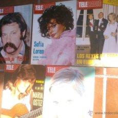 Coleccionismo de Revistas y Periódicos: LOTE DE CINCO REVISTAS TELERADIO. AÑO;1976 . Lote 42161854