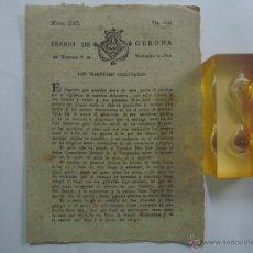 Coleccionismo de Revistas y Periódicos: LIBRERIA GHOTICA. DIARIO DE GERONA. 8 DE NOVIEMBRE DE 1809.GUERRA DE LA INDEPENDENCIA.EJ.ORIGINAL!. Lote 42186828