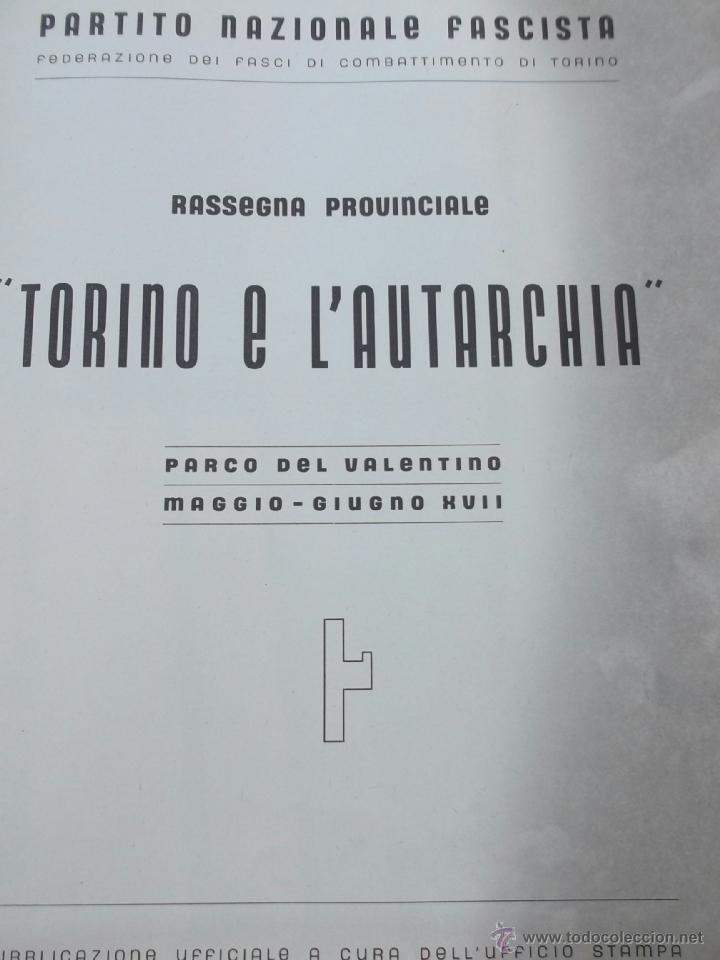 Coleccionismo de Revistas y Periódicos: FASCISMO: TORINO E LAUTARCHIA, Partito Nazionale Fascista, 1939, Cubierta Nico Edel Fotografias - Foto 2 - 42186881