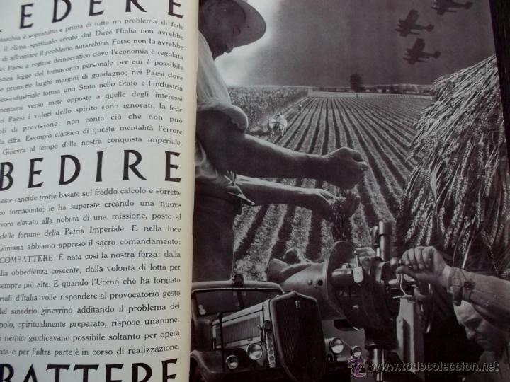 Coleccionismo de Revistas y Periódicos: FASCISMO: TORINO E LAUTARCHIA, Partito Nazionale Fascista, 1939, Cubierta Nico Edel Fotografias - Foto 4 - 42186881