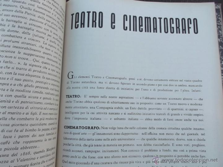 Coleccionismo de Revistas y Periódicos: FASCISMO: TORINO E LAUTARCHIA, Partito Nazionale Fascista, 1939, Cubierta Nico Edel Fotografias - Foto 8 - 42186881