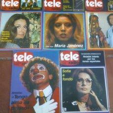 Coleccionismo de Revistas y Periódicos: LOTE DE CINCO REVISTAS TELERADIO. AÑO;1978/79. Lote 42188702
