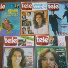 Coleccionismo de Revistas y Periódicos: LOTE DE CINCO REVISTAS TELERADIO. AÑO;1978/79. Lote 42188710