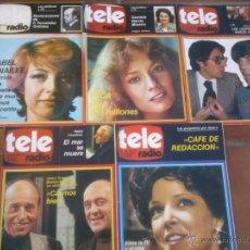 Coleccionismo de Revistas y Periódicos: LOTE DE CINCO REVISTAS TELERADIO. AÑO;1978/79. Lote 42188722