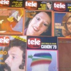 Coleccionismo de Revistas y Periódicos: LOTE DE CINCO REVISTAS TELERADIO. AÑO;1978/79. Lote 42188730