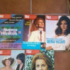 Coleccionismo de Revistas y Periódicos: LOTE DE CINCO REVISTAS TELERADIO. AÑO;1978/79. Lote 42188742