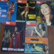 Coleccionismo de Revistas y Periódicos: LOTE DE CUATRO REVISTAS TELERADIO. AÑO;1977. Lote 42188768