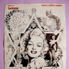 Coleccionismo de Revistas y Periódicos: POSTER MARILYN MONROE REVISTA LECTURAS - 1980. Lote 42193294
