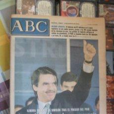 Coleccionismo de Revistas y Periódicos: ABC 13 DE MARZO DE 2000 - AZNAR LOGRA LA PRIMERA MAYORÍA ABSOLUTA DEL CENTRO-DERECHA EN LA DEMOCRACI. Lote 42258688