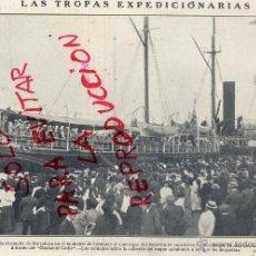Colecionismo de Revistas e Jornais: MARRUECOS 1909 BARCELONA EMBARQUE DE TROPAS HOJA REVISTA. Lote 42266581