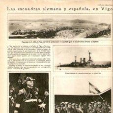 Coleccionismo de Revistas y Periódicos: AÑO 1930 RECORTE PRENSA BAHIA DE VIGO ESCUADRA ALEMANA ESPAÑOLA. Lote 42272946