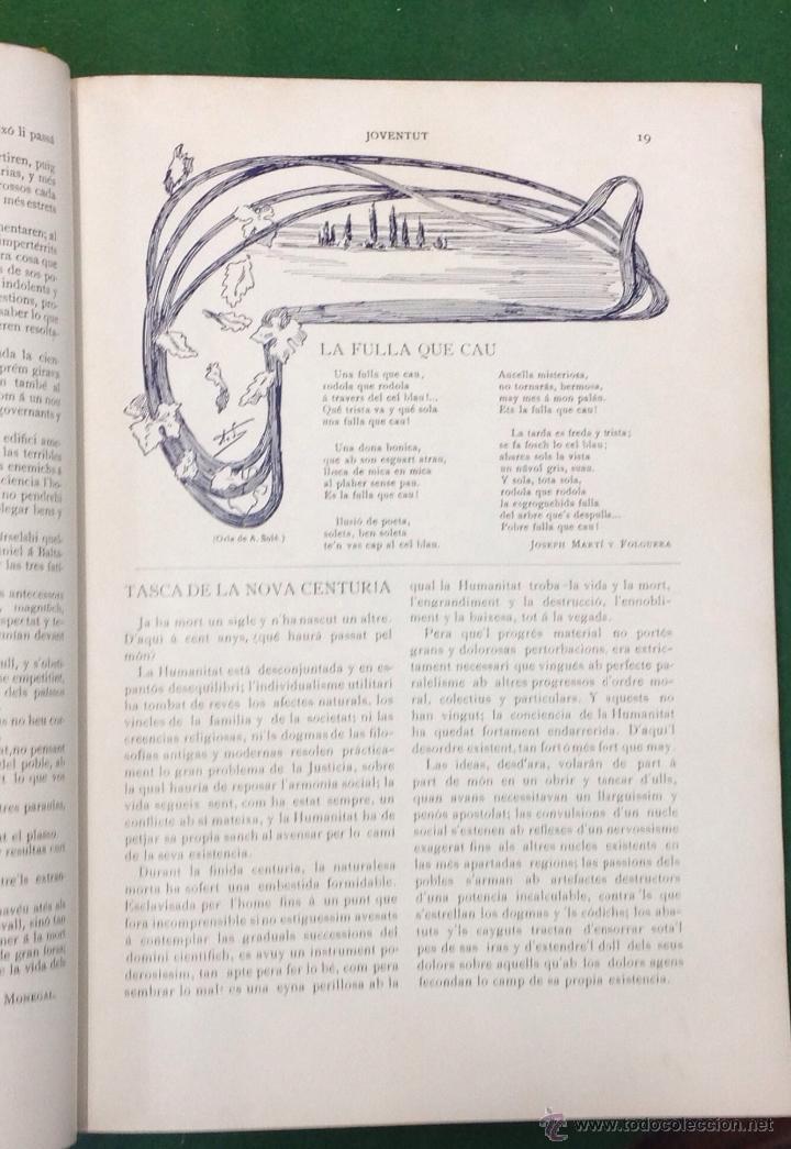 Coleccionismo de Revistas y Periódicos: REVISTA JOVENTUT. PERIODICH CATALANISTA. ANY 1901. ART CIENCIA LITERATURA. TRIADÓ. - Foto 4 - 42276730