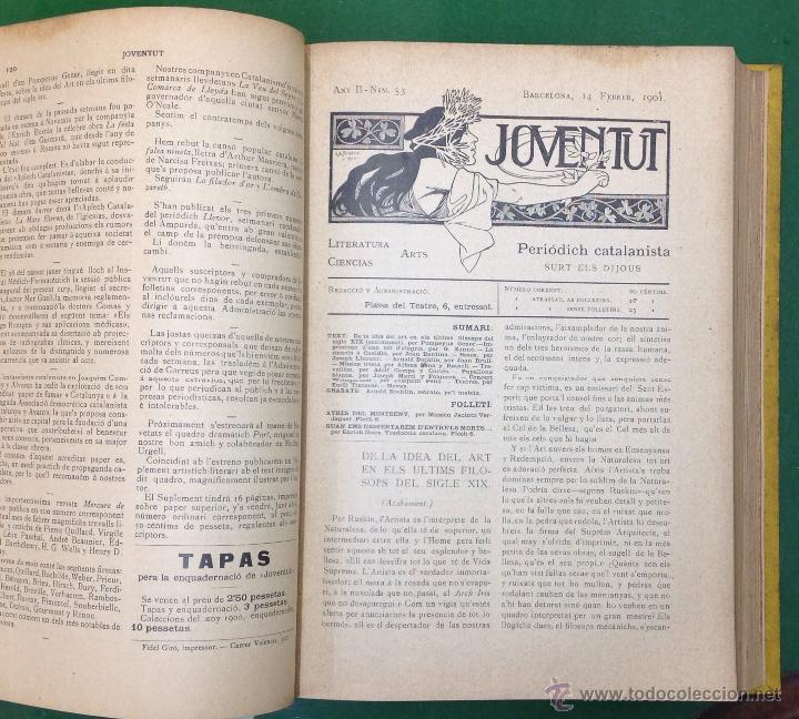 Coleccionismo de Revistas y Periódicos: REVISTA JOVENTUT. PERIODICH CATALANISTA. ANY 1901. ART CIENCIA LITERATURA. TRIADÓ. - Foto 5 - 42276730