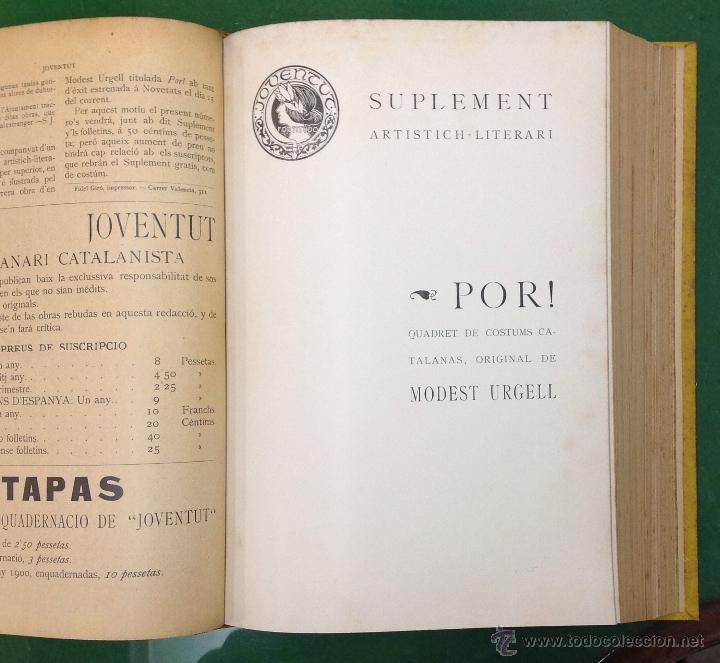 Coleccionismo de Revistas y Periódicos: REVISTA JOVENTUT. PERIODICH CATALANISTA. ANY 1901. ART CIENCIA LITERATURA. TRIADÓ. - Foto 6 - 42276730
