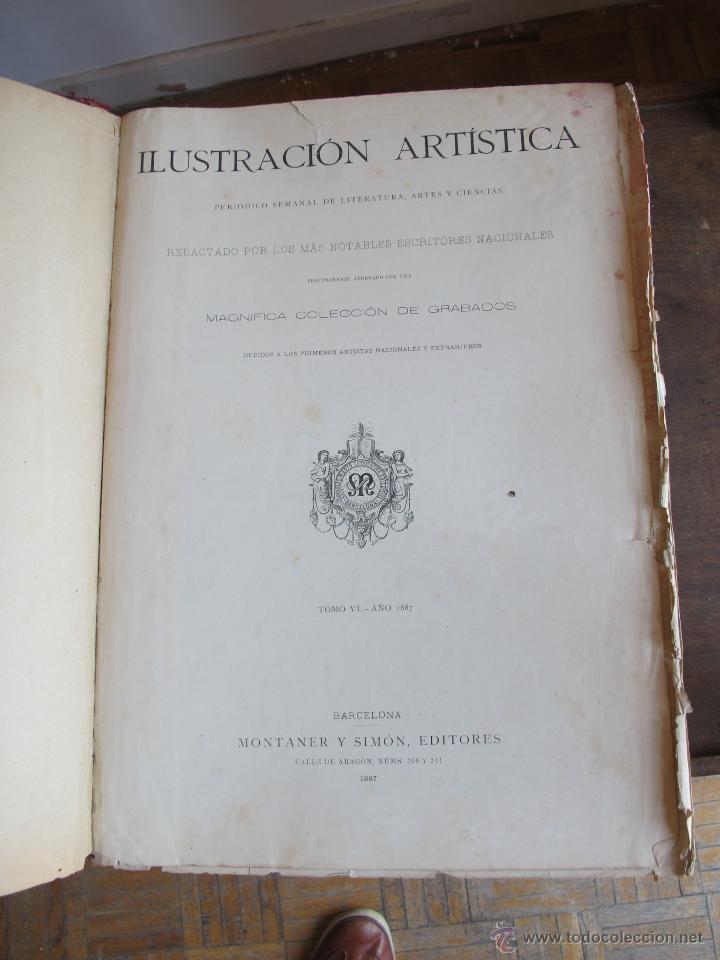 REVISTA ILUSTRACIÓN ARTÍSTICA 1887 (Coleccionismo - Revistas y Periódicos Antiguos (hasta 1.939))