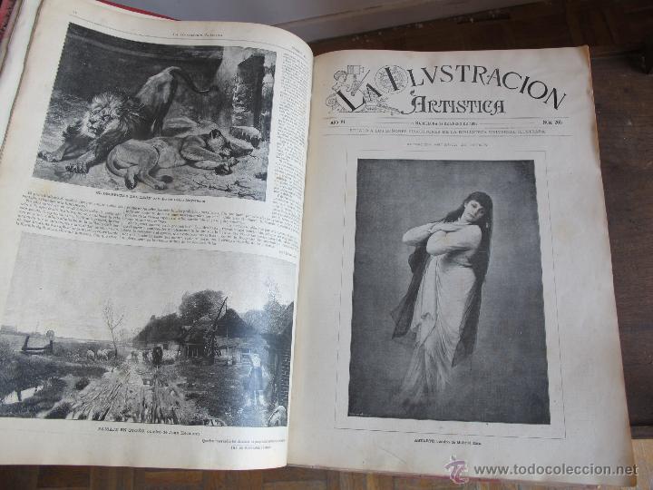 Coleccionismo de Revistas y Periódicos: Revista Ilustración Artística 1887 - Foto 5 - 42367669