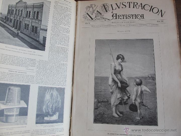 Coleccionismo de Revistas y Periódicos: Revista Ilustración Artística 1887 - Foto 7 - 42367669