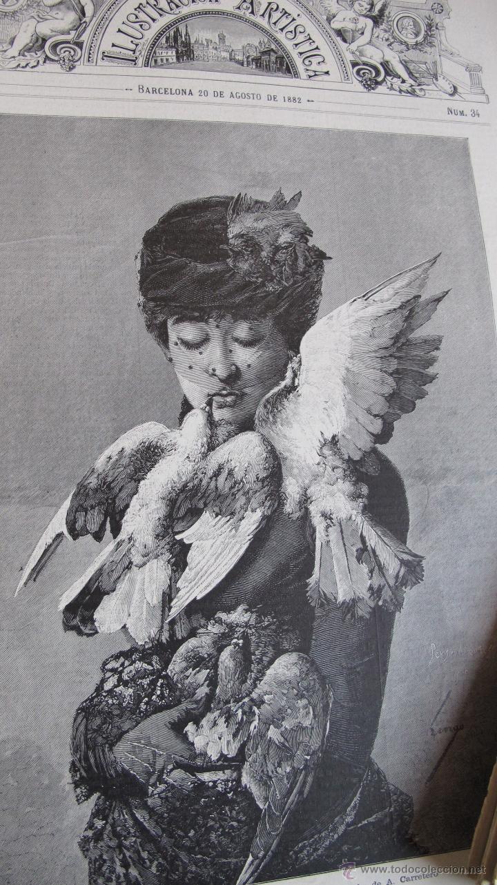 Coleccionismo de Revistas y Periódicos: Revista Ilustración Artística - Foto 3 - 42367877