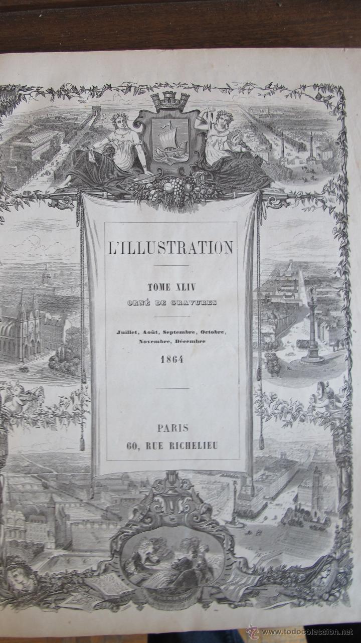 REVISTA L'ILLUSTRATION 1864. PARÍS (Coleccionismo - Revistas y Periódicos Antiguos (hasta 1.939))