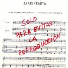 Coleccionismo de Revistas y Periódicos: PARTITURA 1911 JARDNERETA 2 HOJAS REVISTA. Lote 42403296