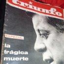 Coleccionismo de Revistas y Periódicos: ASESINATO DE KENNEDY, REVISTA TRIUNFO 1963, IMPRESIONANTE REPORTAJE. Lote 42420949