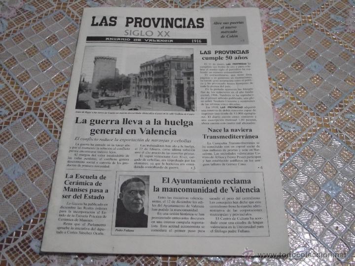 LAS PROVINCIAS SIGLO XX • ANUARIO DE VALENCIA 1916 (Coleccionismo - Revistas y Periódicos Modernos (a partir de 1.940) - Otros)
