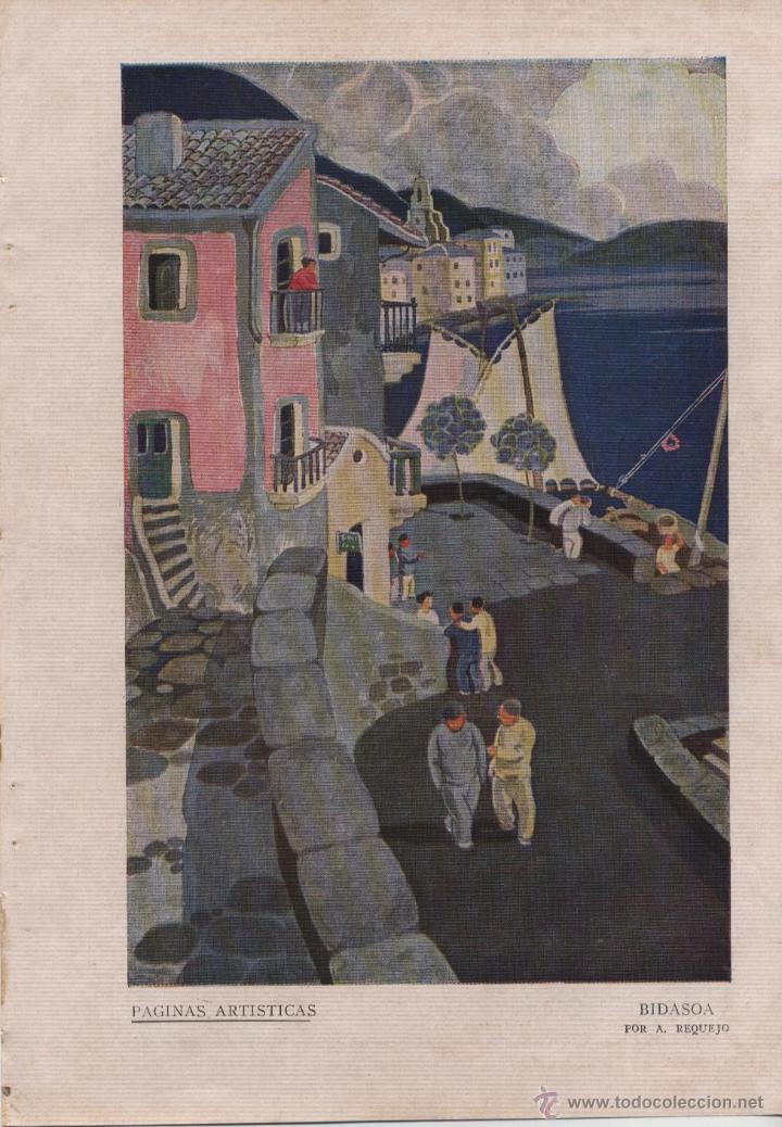 BIDASOA / ILUSTRACIÓN DE A. REQUEJO - 1926 (Coleccionismo - Revistas y Periódicos Antiguos (hasta 1.939))