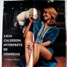 Coleccionismo de Revistas y Periódicos: REPORTAJE DE PRENSA ORIGINAL DE 1972. LICIA CALDERON, INTERPETRE DE COMEDIAS (ALICANTE) . Lote 42540438