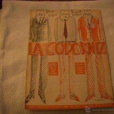 Coleccionismo de Revistas y Periódicos: LA CODORNIZ Nº 1378. Lote 42635027