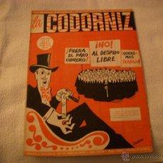 Coleccionismo de Revistas y Periódicos: LA CODORNIZ Nº 1380. Lote 42635107