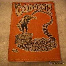 Coleccionismo de Revistas y Periódicos: LA CODORNIZ Nº 1551. Lote 42635147