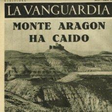 Coleccionismo de Revistas y Periódicos: GUERRA CIVIL. NOTAS GRAFICAS 'LA VANGUARDIA'.4 PGAS. 1 / 10 / 1936. MONTE ARAGON HA CAIDO. Lote 42682196