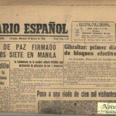 Coleccionismo de Revistas y Periódicos: DIARIO ESPAÑOL TARRAGONA FERIA DE MUESTRAS REUS 1966.GIBRALTAR.CAUDILLO.. Lote 42756584