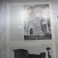 Coleccionismo de Revistas y Periódicos: PALACIO DE ABRANTES O DAVILA Y CASTILLO DE MOMBELTRAN EN AVILA HOJA DE REVISTA REALES SITIOS 1967. Lote 42757793