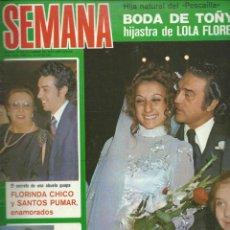 Coleccionismo de Revistas y Periódicos: SEMANA Nº 1975 CON LA HIJASTRA DE LOLA FLORES Y EL PESCADILLA SE CASA Nº 1975 DE 1977. Lote 42788883