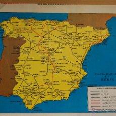 Coleccionismo de Revistas y Periódicos: RENFE -ARTICULO REVISTA ANTIGUA- 1 PAG. MAG. FOTOS FERROCARRIL - PLANO LINEAS DE RENFE . Lote 43022157