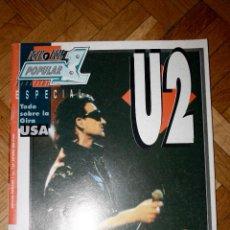 Coleccionismo de Revistas y Periódicos: REVISTA ROCK N ROLL POPULAR 1 U2 ESPECIAL. Lote 43090095