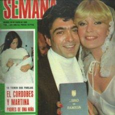 Coleccionismo de Revistas y Periódicos: SEMANA CON - LA BODA DE BARBARA REY Y ANGEL CRISTO Nº 2084 DE 1980. Lote 43103463