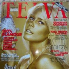 Coleccionismo de Revistas y Periódicos: REV. TELVA 824 CLAUDIA SCHIFFER 2007 100% GLAMOUR PERFECTA GENOVEVA CASANOVA. Lote 43145893